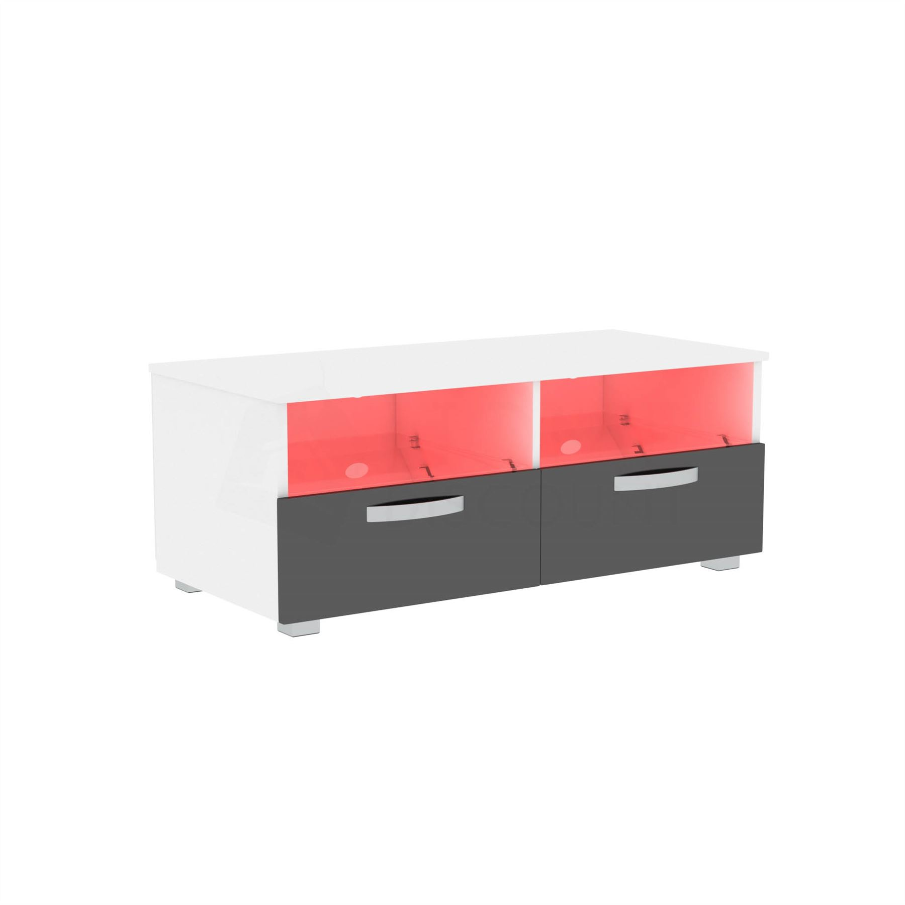thumbnail 76 - Modern White TV Unit Cabinet Stand Matt body and High Gloss Doors LED Lights