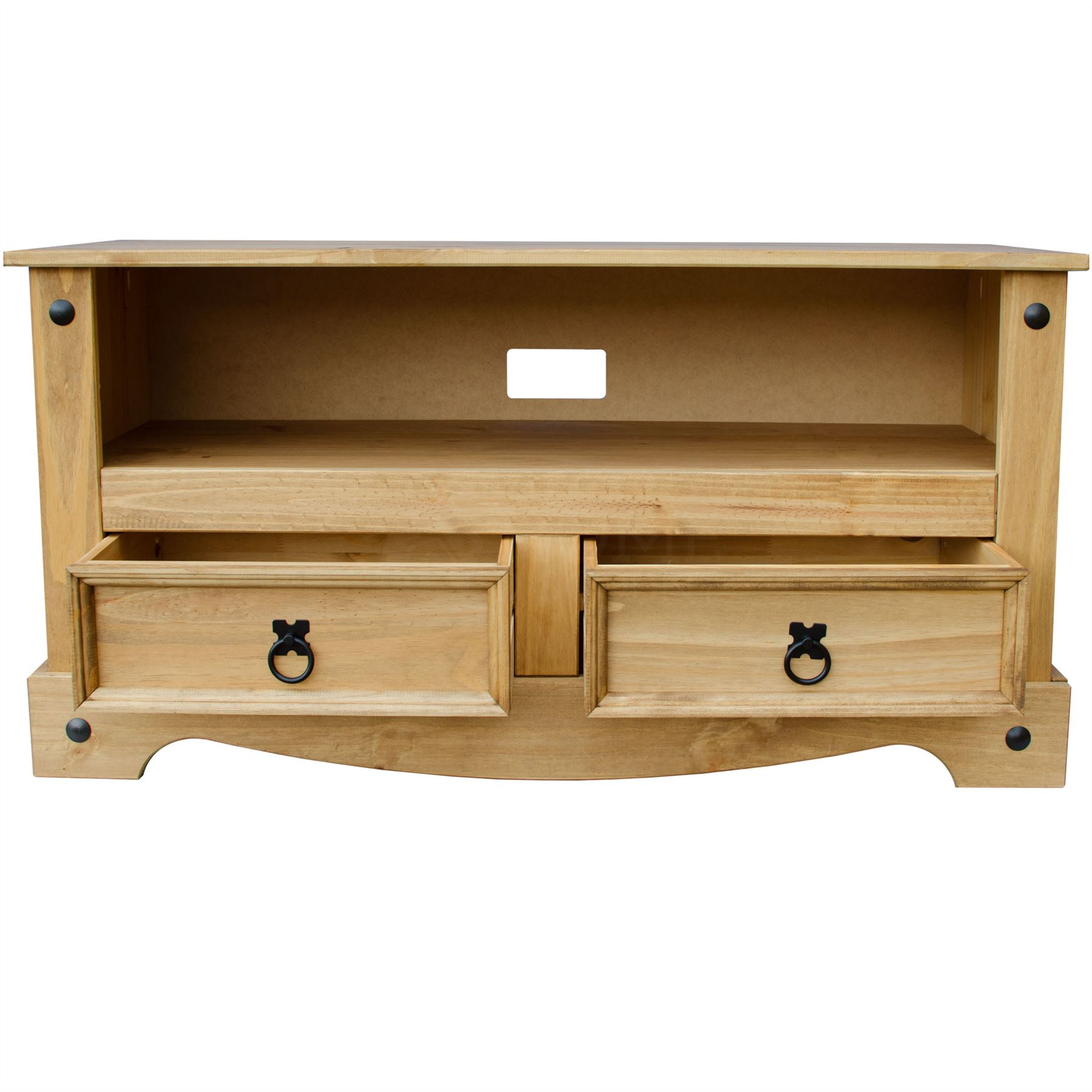 Corona flat screen tv unit stand 2 drawer mexican solid pine by home discount - Television c discount ...