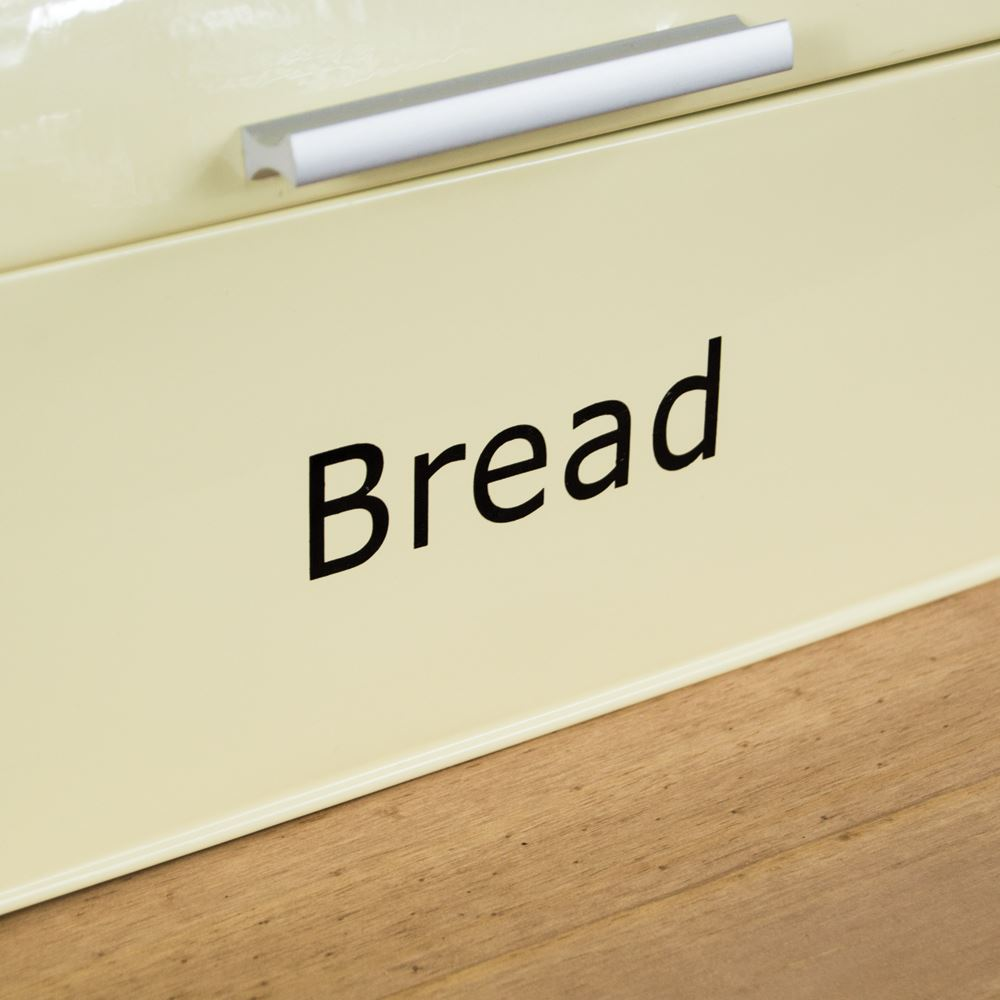Bread-Bin-Retro-Curved-Mirrored-Steel-Kitchen-Loaf-Food-Storage-Container thumbnail 31