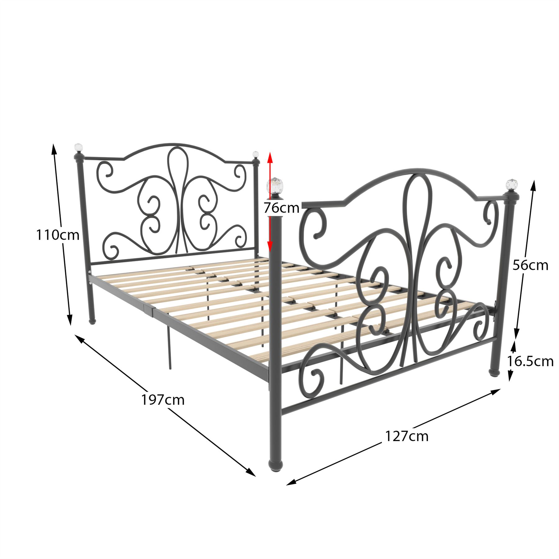 Awe Inspiring Details About Metal Bed Double King Size Frame 4Ft 4Ft6 5Ft Mattress Black White Chicago Onthecornerstone Fun Painted Chair Ideas Images Onthecornerstoneorg
