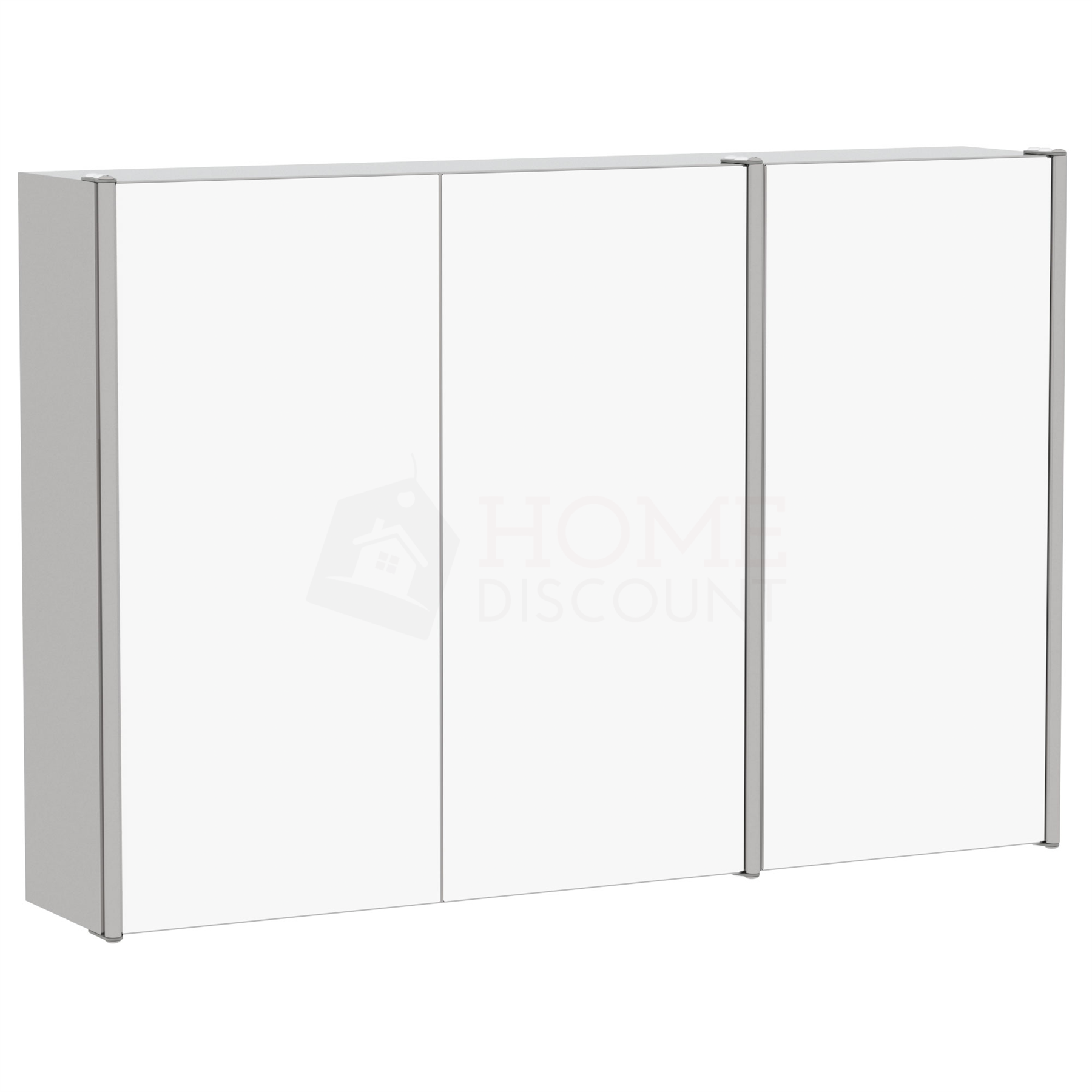 Bathroom-Cabinet-Double-Triple-Door-Wall-Mounted-Mirror-Storage-Stainless-Steel thumbnail 17