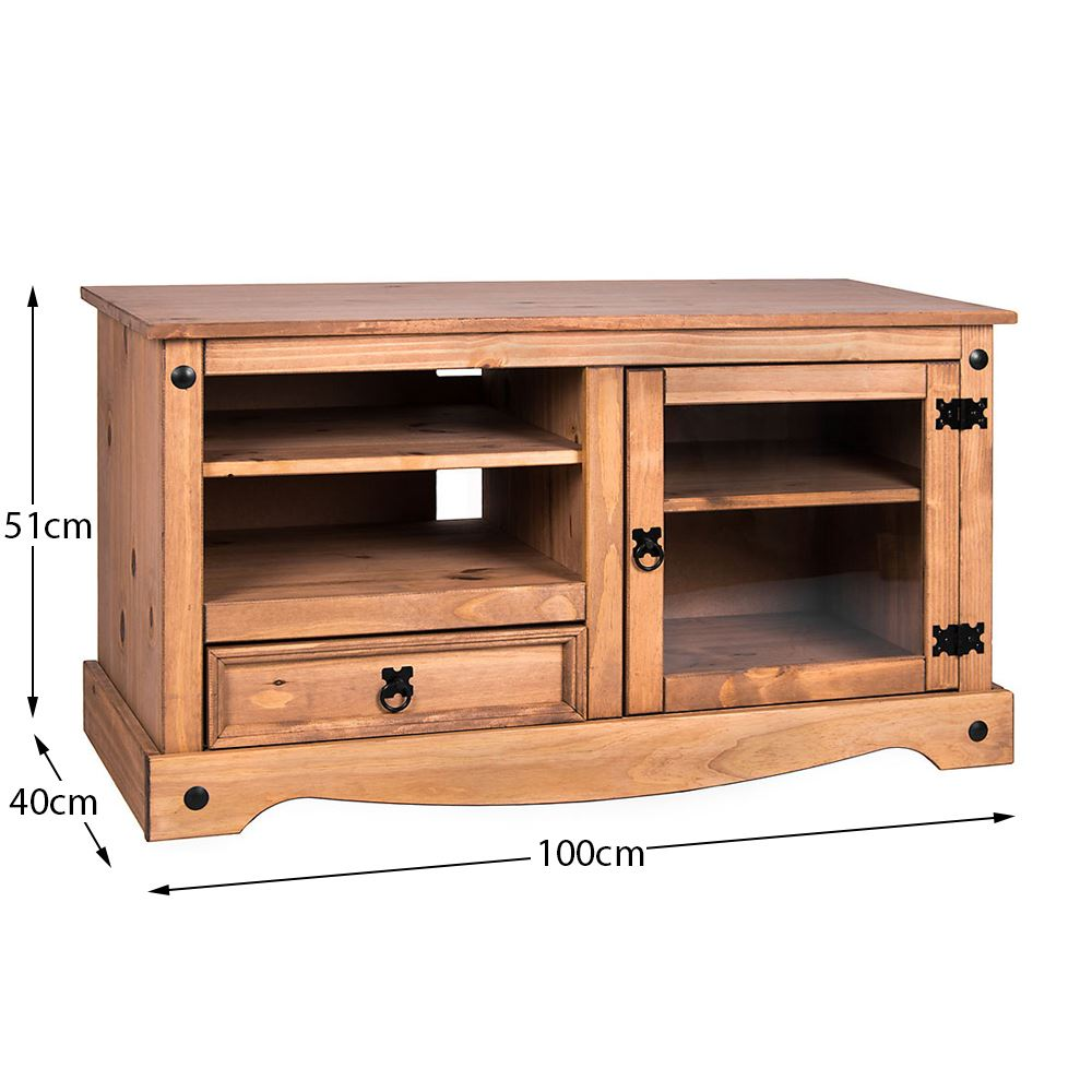 Corona-Solid-Pine-Mexican-Living-Room-Waxed-Furniture-Sideboard-Bookcase-Table thumbnail 246
