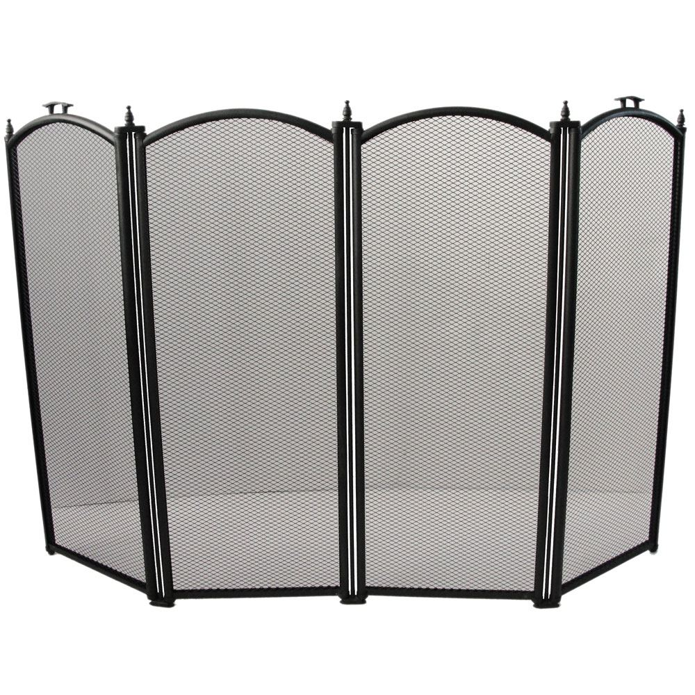 fire guard freestanding panel spark fireplace screen protector