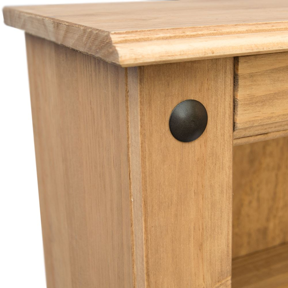 Bookcase-Corona-Panama-Book-DVD-Shelf-Drawer-Display-Solid-Waxed-Pine-Furniture