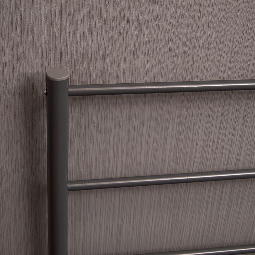Dorset King Size Bed 5ft Metal Frame Bedroom Black Silver White