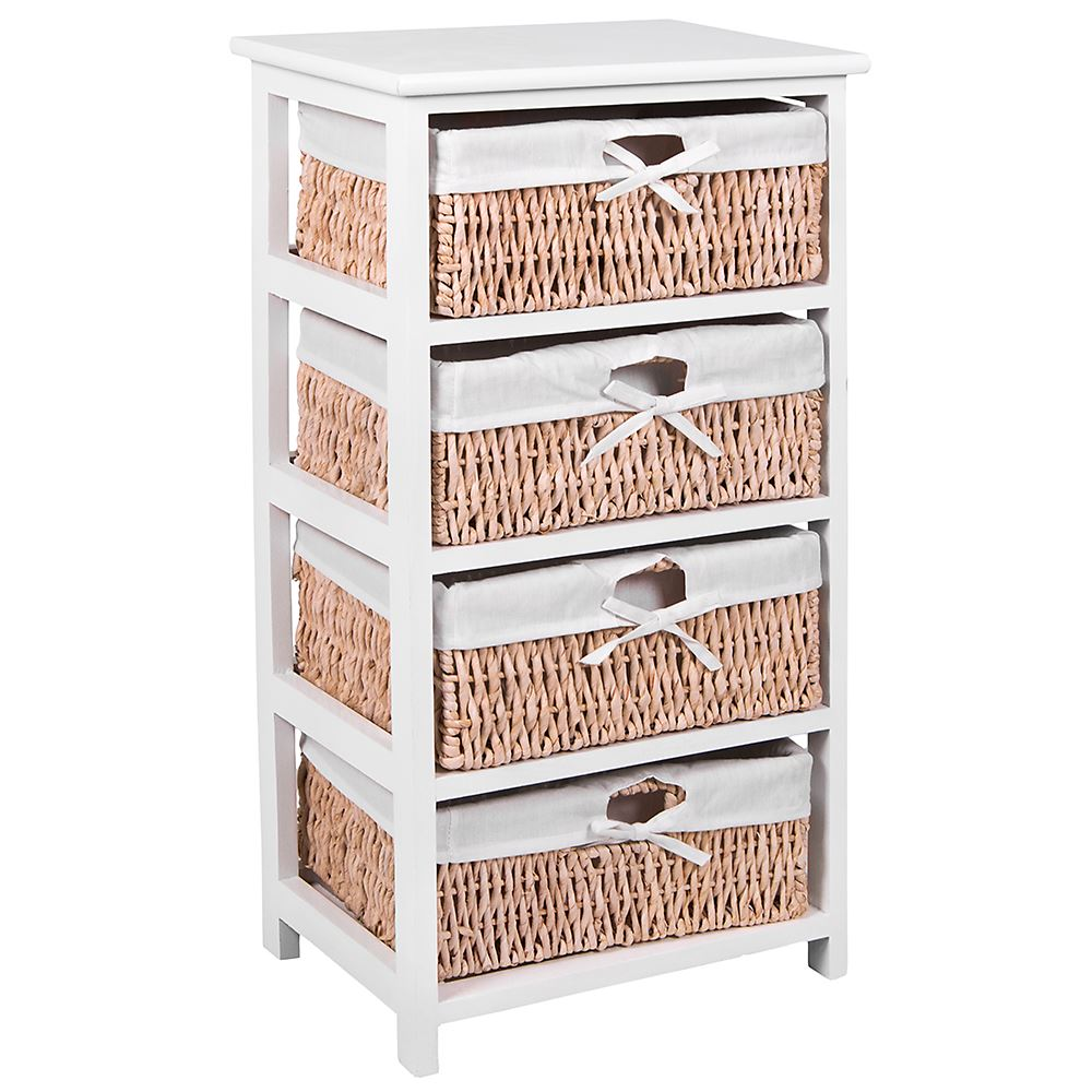 Unit-2-3-Or-4-Maize-Drawers-Basket-White-Wood-Storage-Container-Bathroom-Bedroom thumbnail 10