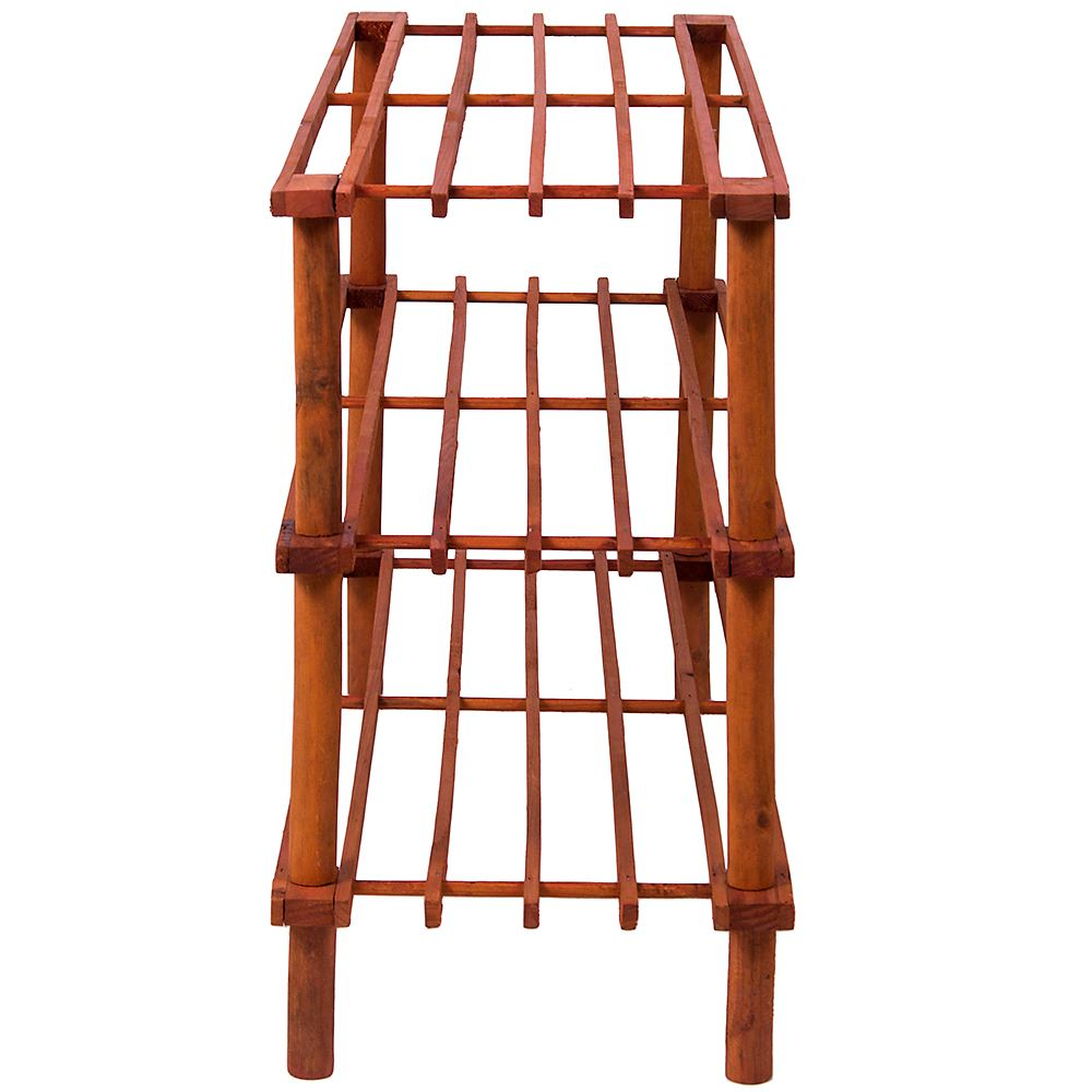 2-3-4-Tier-Shoe-Rack-Slated-Dark-Oak-Natural-Walnut-Wood-Footwear-Storage-Unit thumbnail 23