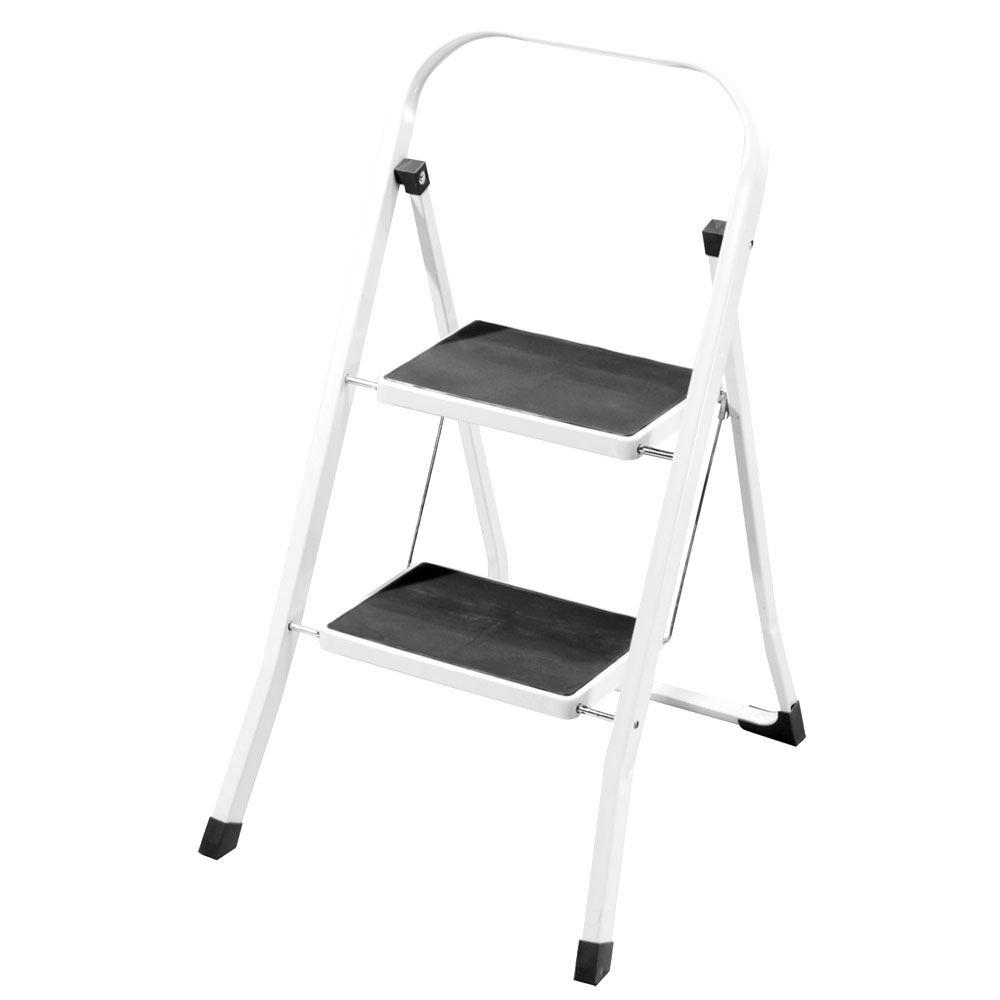 2 3 4 Step Ladder Anti Slip Rubber Mat Tread Steel Folding
