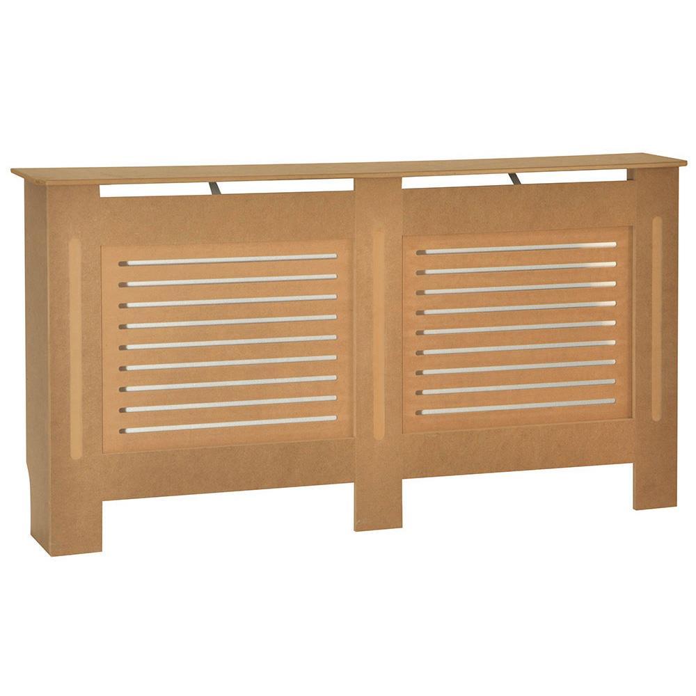 Vida Designs Milton Radiator Cover Unfinished Modern Unpainted MDF Cabinet Small