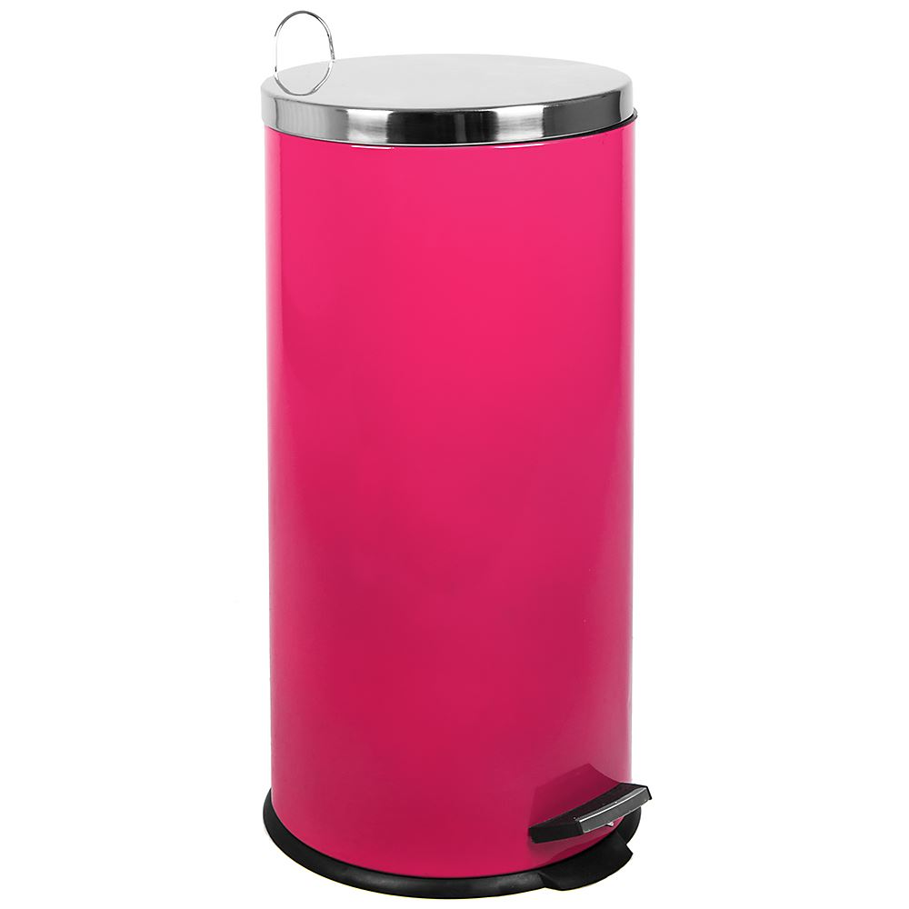 30 Litre Pedal Bin Pink Inner Bucket Rubbish Waste Recycle Disposal Kitchen