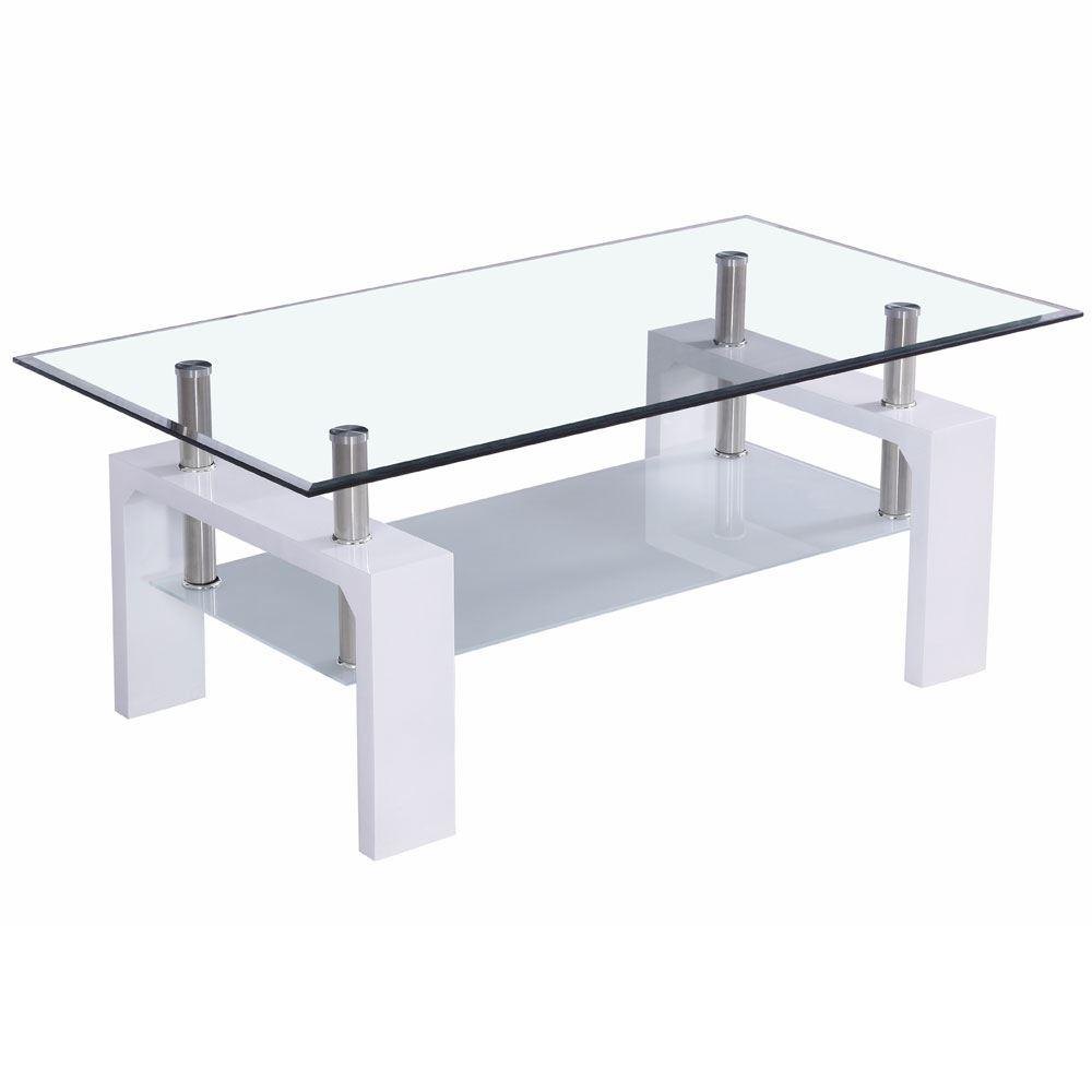 Coffee Tables Cara Elena Elise Glass Top Stainless Steel Modern Furniture Range Ebay
