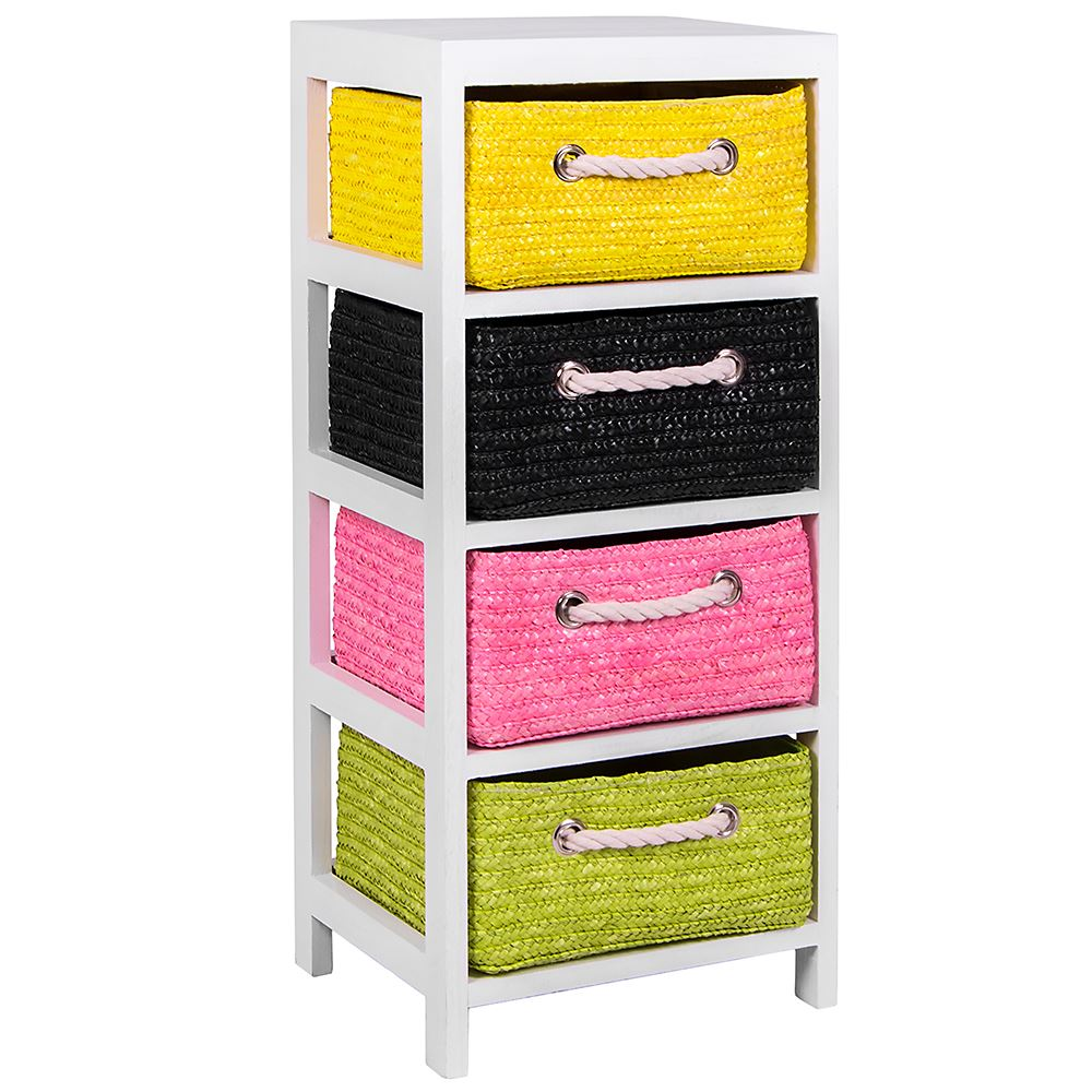 Unit-2-3-Or-4-Maize-Drawers-Basket-White-Wood-Storage-Container-Bathroom-Bedroom thumbnail 9