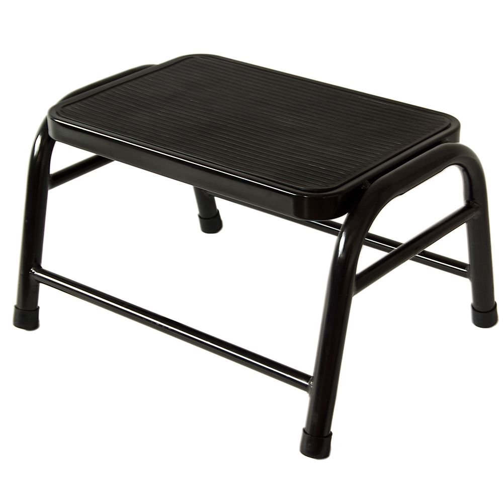 Super Details About One Step Stool Black Metal Anti Slip Rubber Mat Kitchen Ladder By Home Discount Ibusinesslaw Wood Chair Design Ideas Ibusinesslaworg