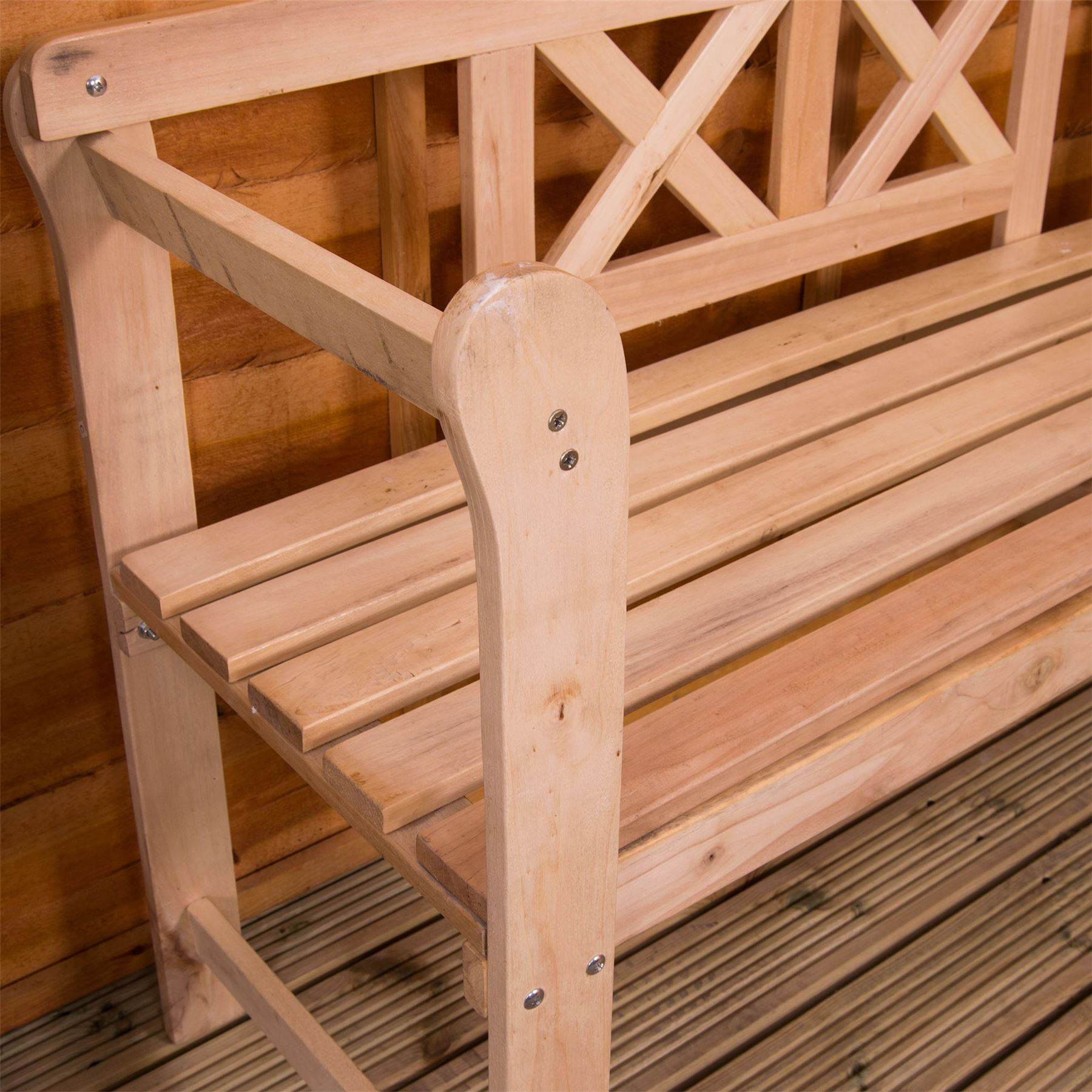 thumbnail 48 - Garden-Bench-Outdoor-Wooden-Metal-Picnic-Seat-Home-Patio-Furniture-Rustic-Iron-3