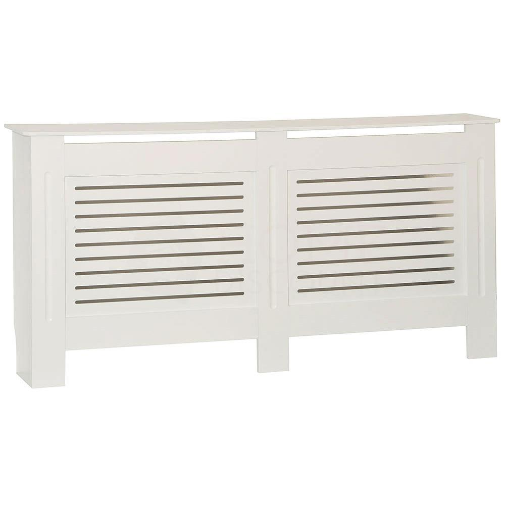 thumbnail 177 - Radiator Cover White Unfinished Modern Traditional Wood Grill Cabinet Furniture