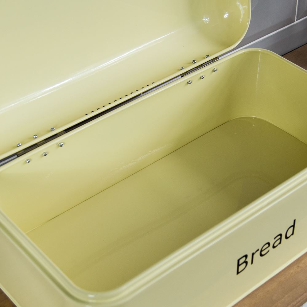 Bread-Bin-Retro-Curved-Mirrored-Steel-Kitchen-Loaf-Food-Storage-Container thumbnail 8