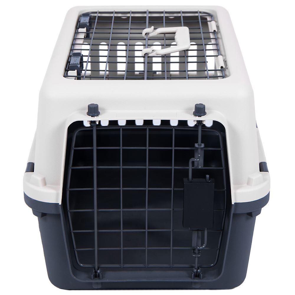 Portador-del-animal-domestico-Blanco-Y-Gris-Marron-2-puertas-grandes-Animal-Perro-Gato-Jaula-de