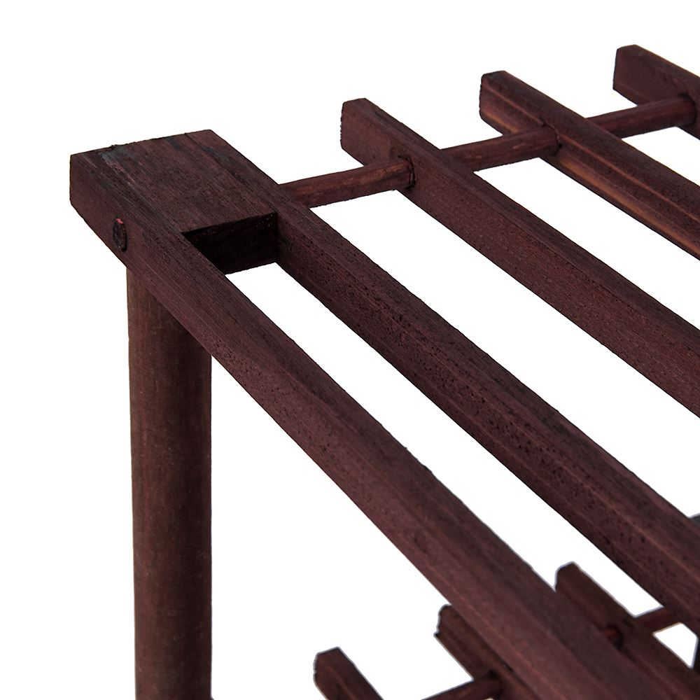 2-3-4-Tier-Shoe-Rack-Slated-Dark-Oak-Natural-Walnut-Wood-Footwear-Storage-Unit thumbnail 44