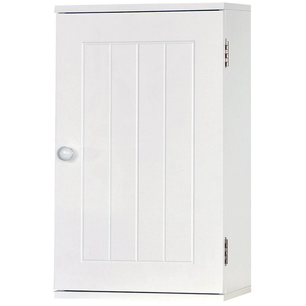 Wall mounted cabinet bathroom white single double door for Bathroom 2 door wall cabinet