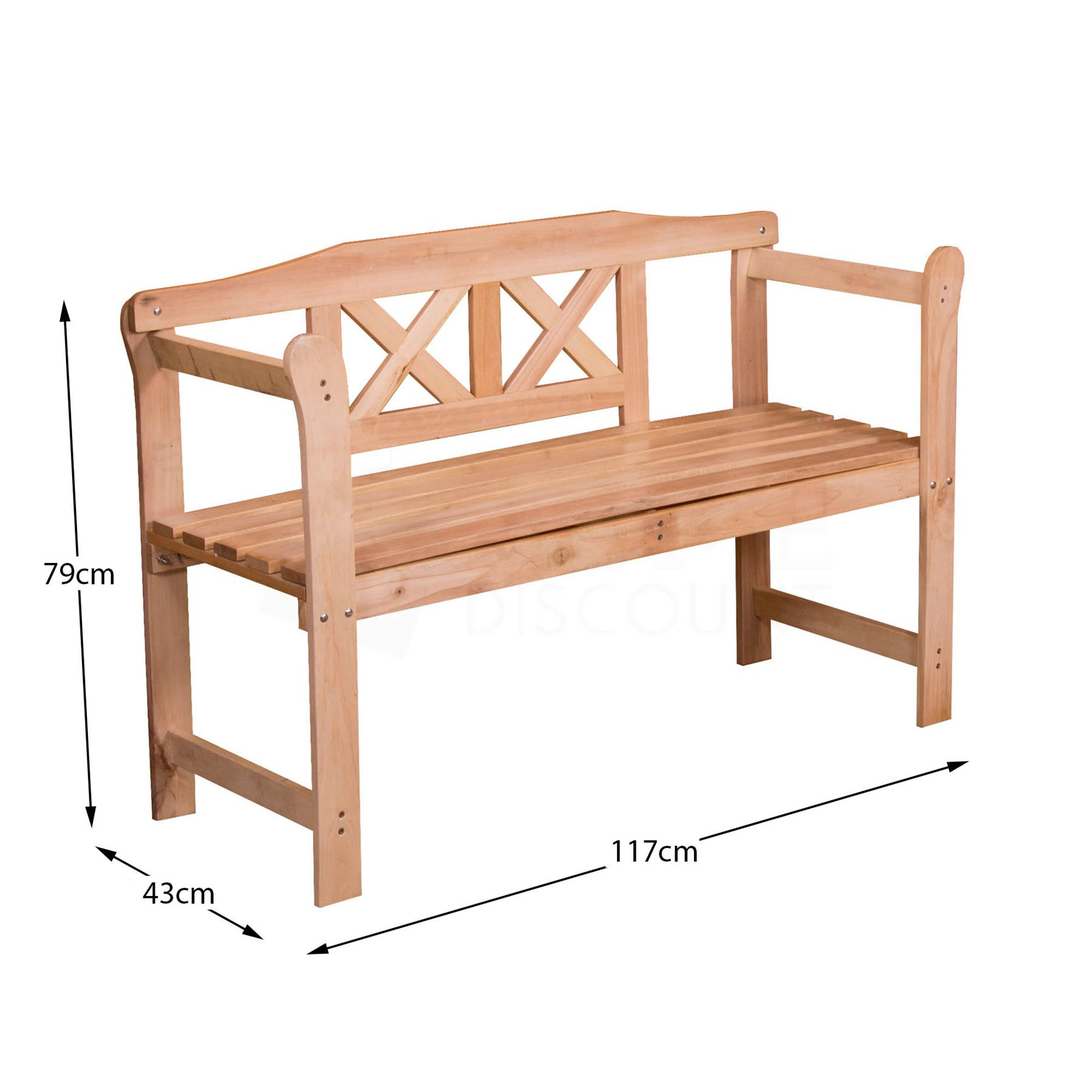 thumbnail 45 - Garden-Bench-Outdoor-Wooden-Metal-Picnic-Seat-Home-Patio-Furniture-Rustic-Iron-3