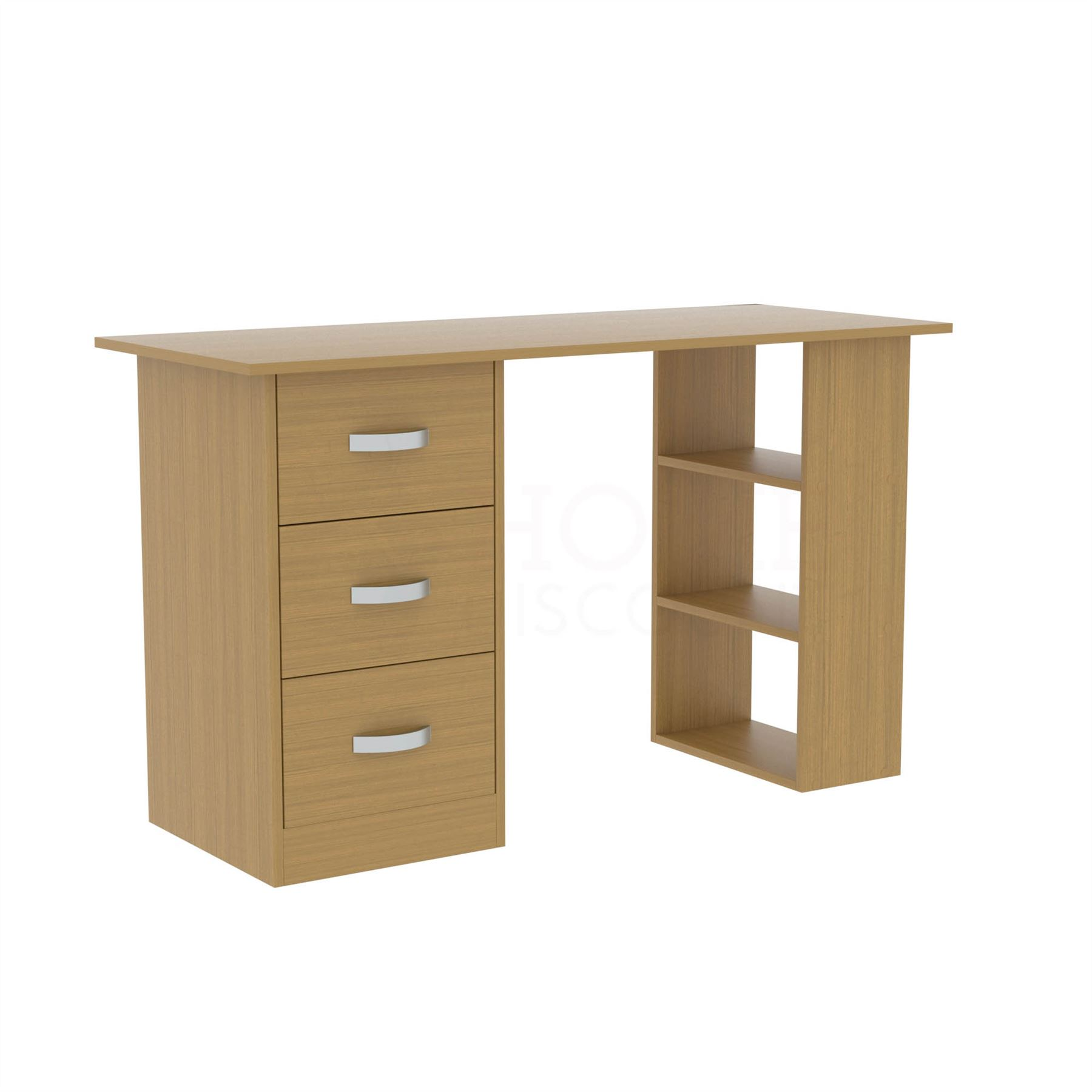 Mason-Computer-Desk-3-Drawer-3-Shelf-Laptop-PC-Table-Home-Office-Workstation thumbnail 20