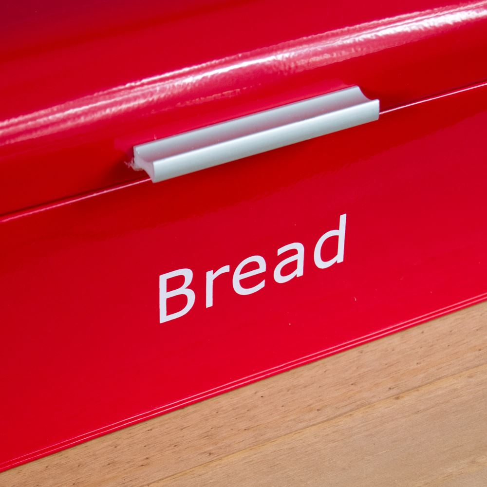 Bread-Bin-Retro-Curved-Mirrored-Steel-Kitchen-Loaf-Food-Storage-Container thumbnail 18