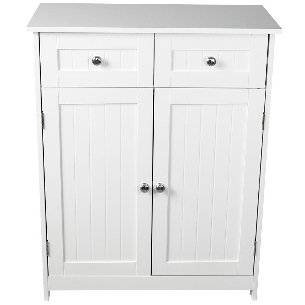 priano bathroom cabinet 2 drawer 2 door storage cupboard unit furniture white ebay. Black Bedroom Furniture Sets. Home Design Ideas
