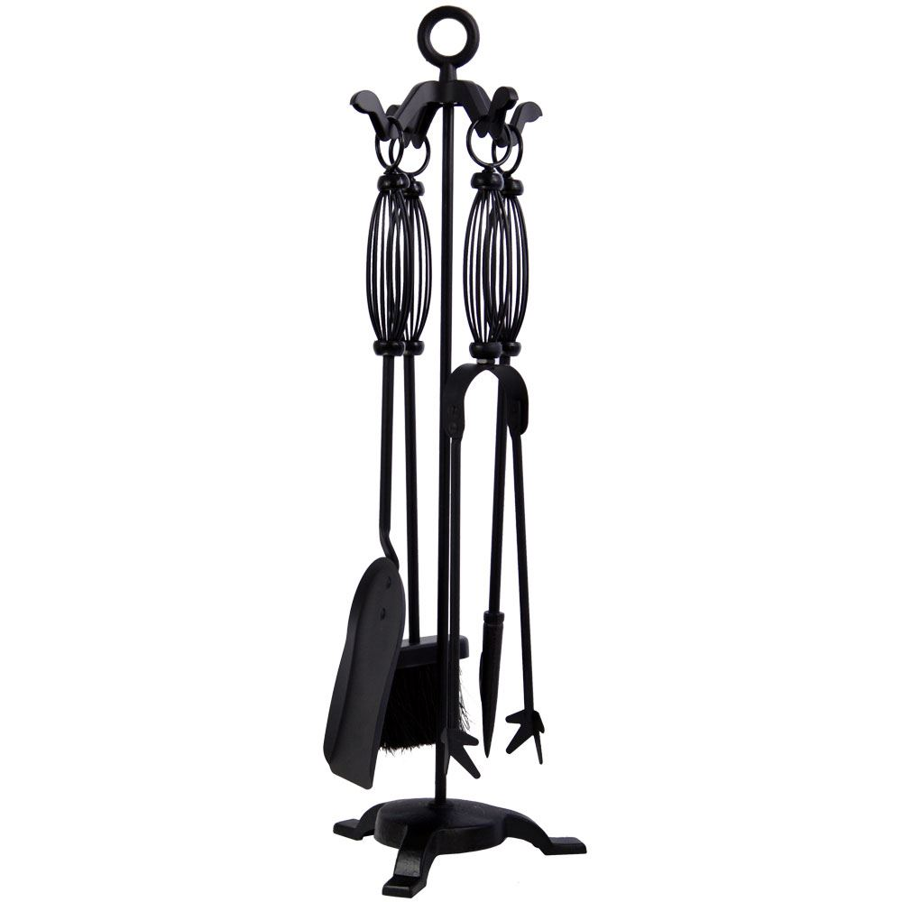 black companion set 4 5 piece fireside brush poker shovel tongs