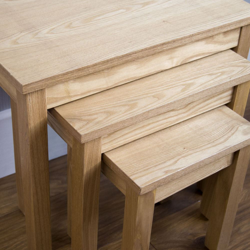 Corona Panama Coffee Nest of 2 3 Tables Mexican Solid Waxed Pine ...