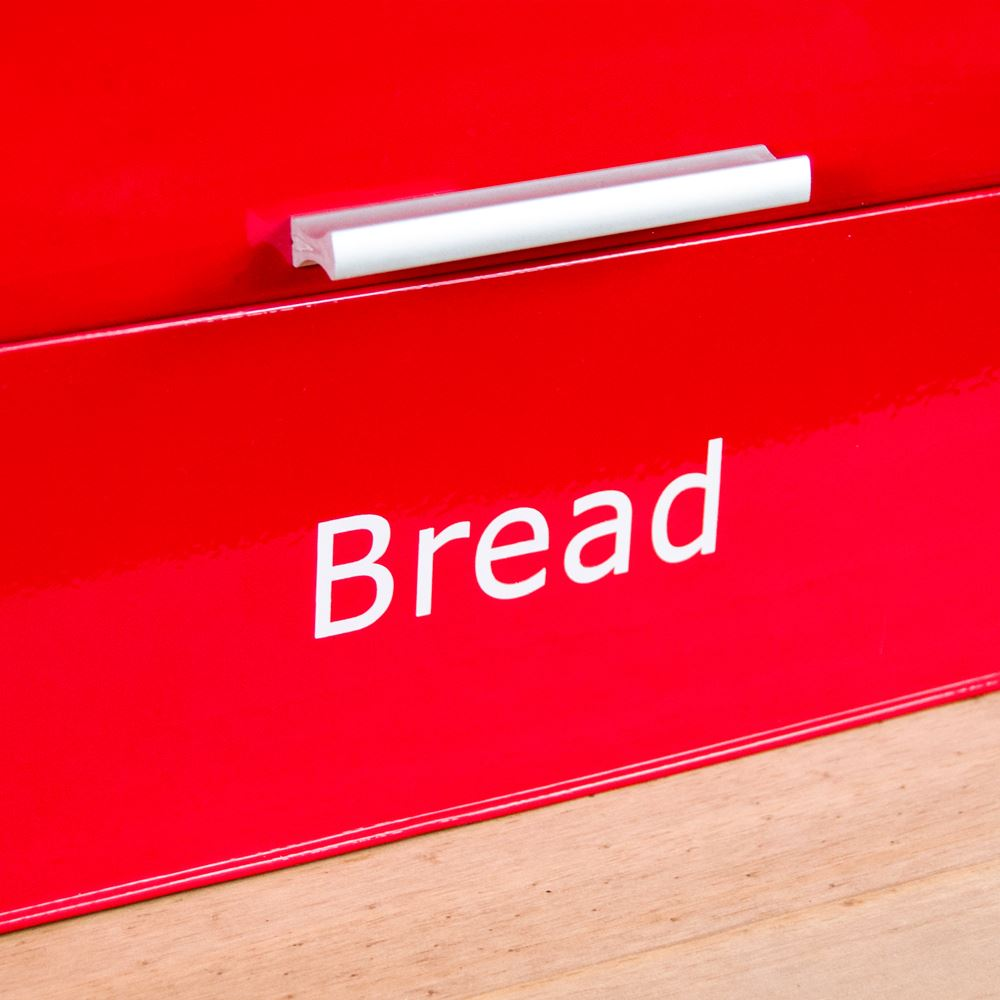 Bread-Bin-Retro-Curved-Mirrored-Steel-Kitchen-Loaf-Food-Storage-Container thumbnail 35