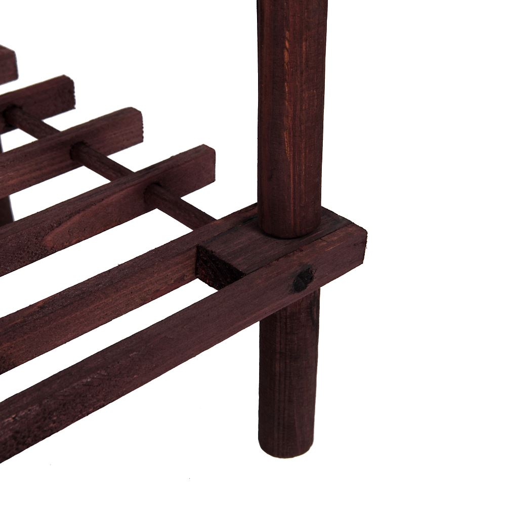 2-3-4-Tier-Shoe-Rack-Slated-Dark-Oak-Natural-Walnut-Wood-Footwear-Storage-Unit thumbnail 46