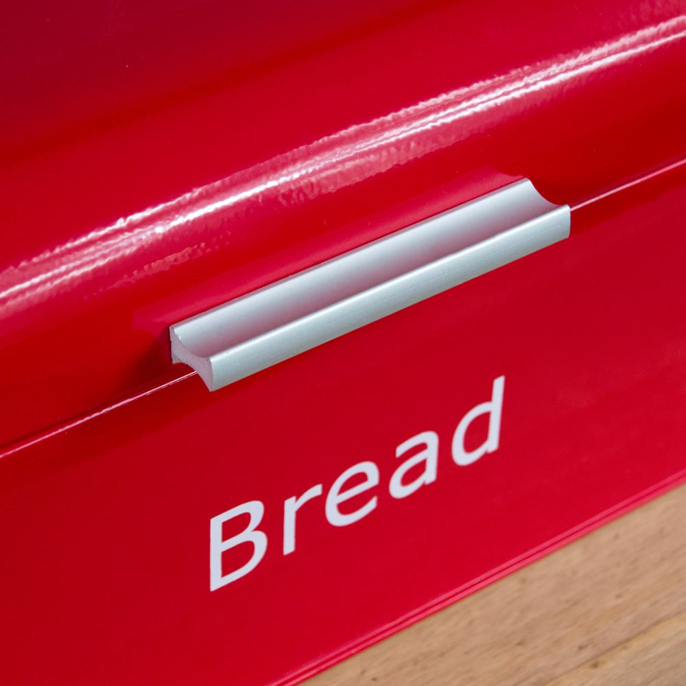 Curved-Bread-Bin-Steel-Kitchen-Top-Storage-Roll-Loaf-Box-New-By-Home-Discount thumbnail 22