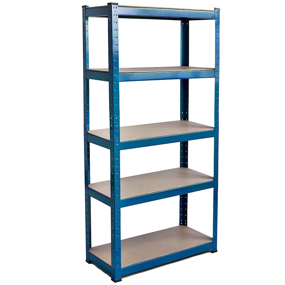 5 Tier Shelves Standard Warehouse Diy Steel Mdf Garage