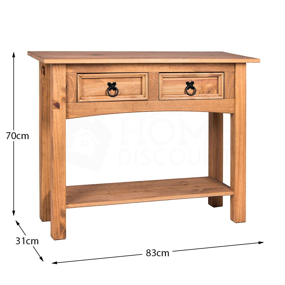 Corona-Solid-Pine-Mexican-Living-Room-Waxed-Furniture-Sideboard-Bookcase-Table thumbnail 65