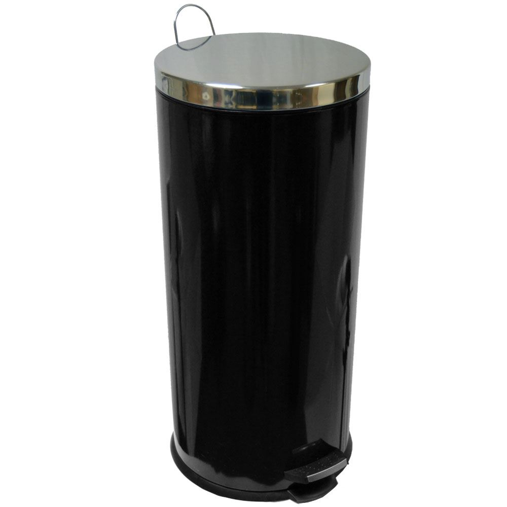30 litre pedal bin stainless steel bathroom kitchen inner for Purple bathroom bin