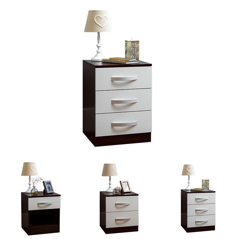 High Gloss Bedroom Cupboards Lemon Bedroom Accessories Toddler Bedroom Curtains Black And White Bedroom Cupboard Designs: Hulio 1 2 3 Drawer Bedside Chest Cabinet High Gloss Wood