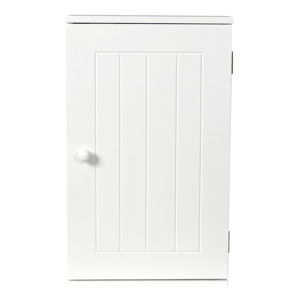 Bathroom wall cabinet white - Single Door Bathroom Wall Cabinets White Mounted Cupboard