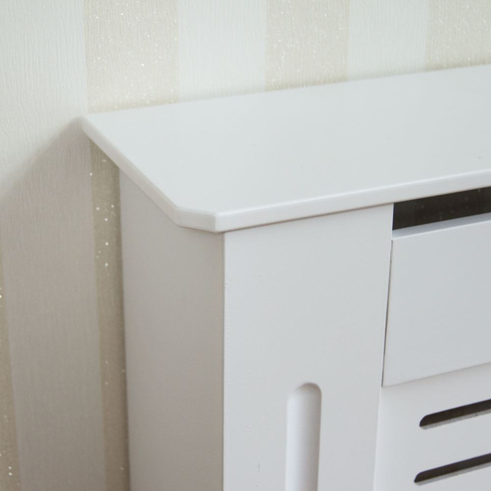 Painting Mdf Kitchen Cabinets White: Milton Radiator Cover Modern White Large Cabinet MDF
