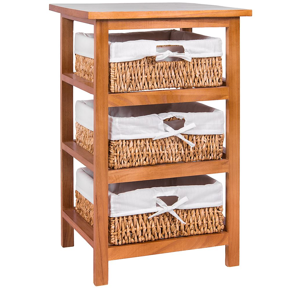 Unit-2-3-Or-4-Maize-Drawers-Basket-White-Wood-Storage-Container-Bathroom-Bedroom thumbnail 6