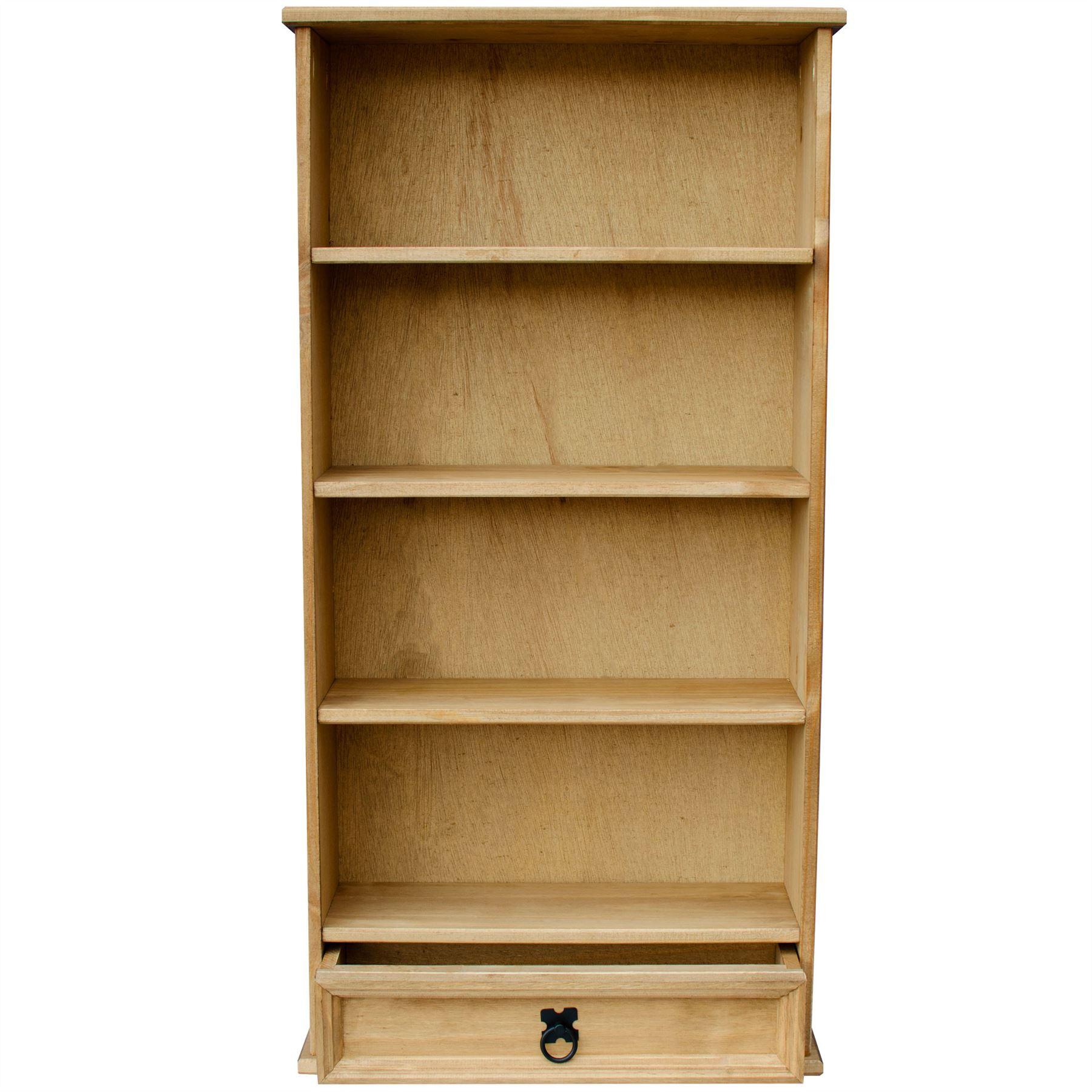rack storage waxed with bookcases mexican itm unit dvd drawer specifics pine item solid shelf corona bookcase