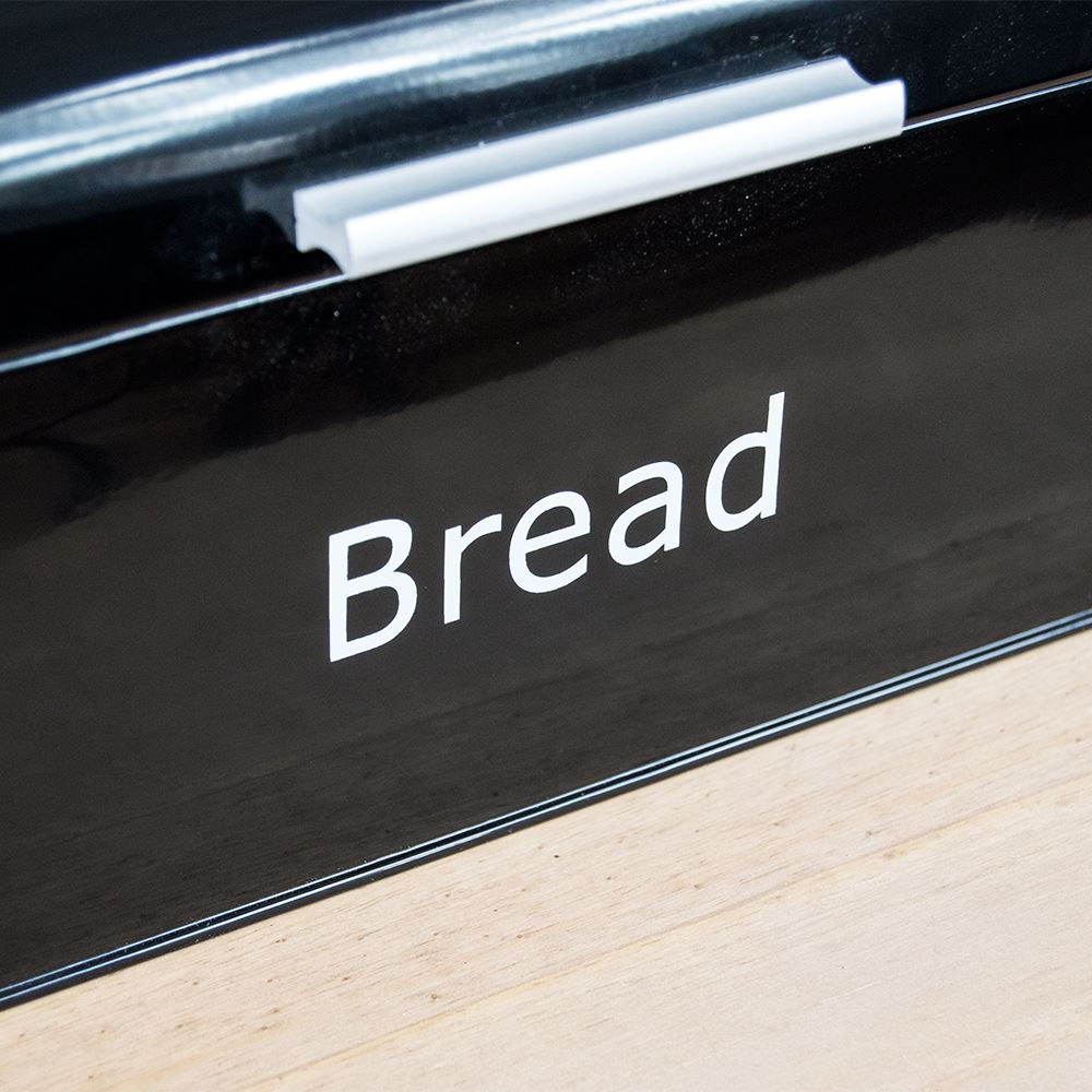 Bread-Bin-Retro-Curved-Mirrored-Steel-Kitchen-Loaf-Food-Storage-Container thumbnail 5