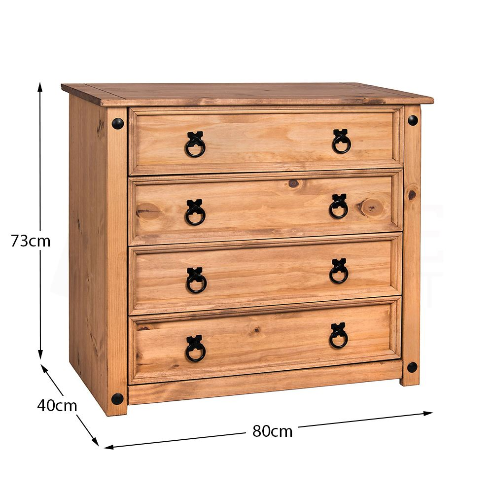 Corona-Panama-Chest-Of-Drawers-Bedside-Bedroom-Mexican-Solid-Pine-Furniture thumbnail 65