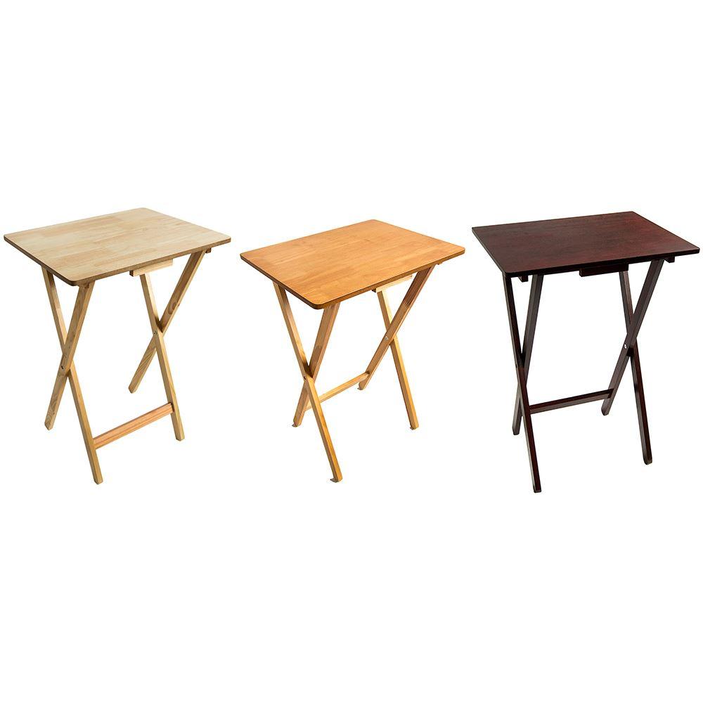 Folding Snack Table Wooden Tv Side Laptop Coffee Tea