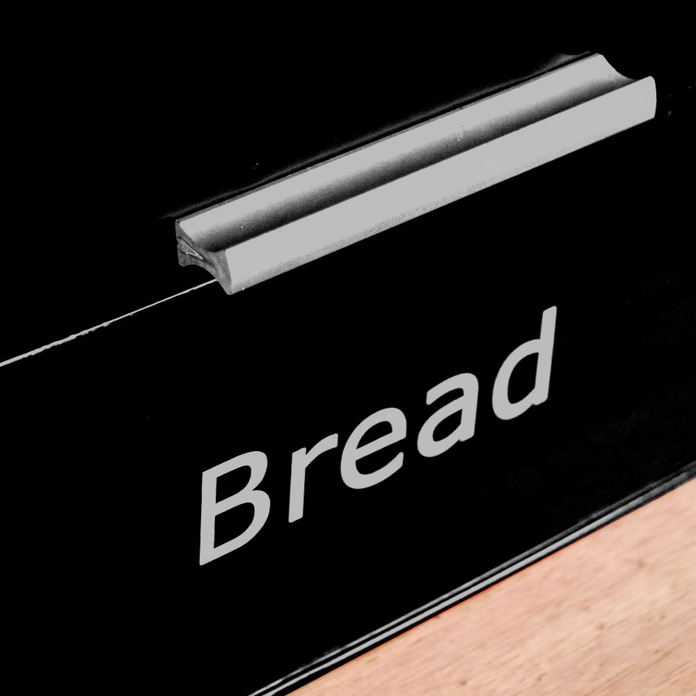 Bread-Bin-Retro-Curved-Mirrored-Steel-Kitchen-Loaf-Food-Storage-Container thumbnail 27