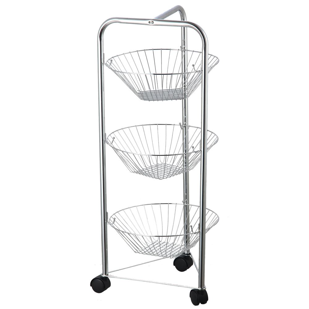 vegetable storage trolley kitchen 3 4 tier fruit basket kitchen trolley vegetable storage 6755