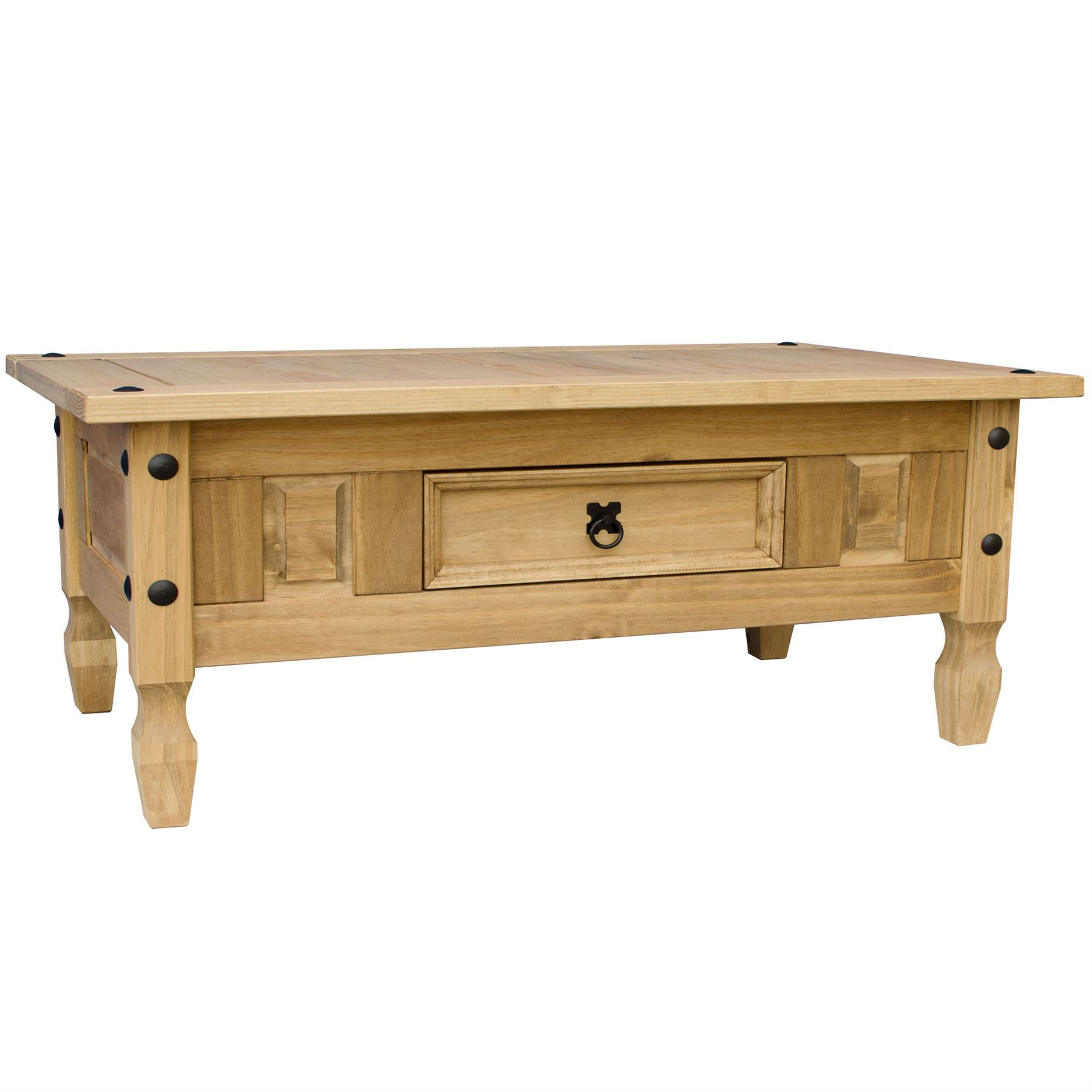 Corona Coffee Table 1 Drawer Mexican Solid Waxed Pine Living Room ...