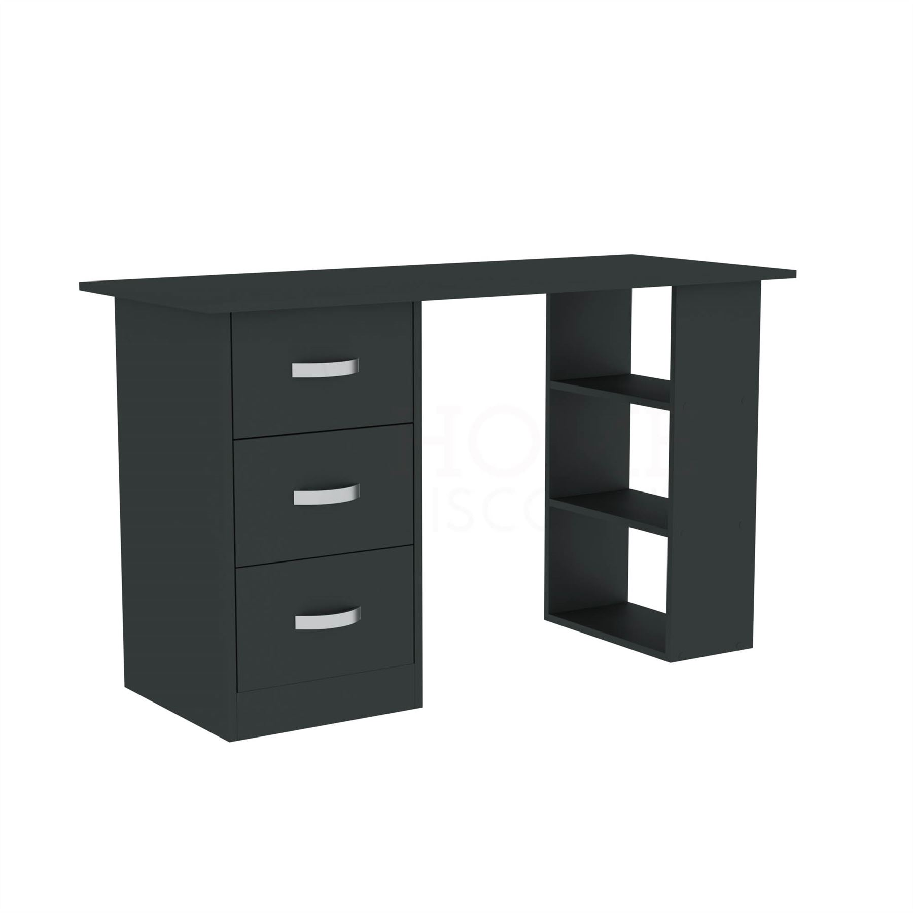 Mason-Computer-Desk-3-Drawer-3-Shelf-Laptop-PC-Table-Home-Office-Workstation thumbnail 11