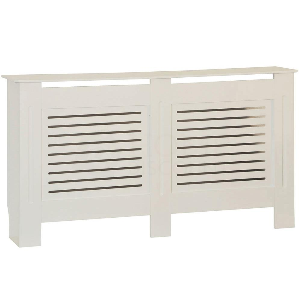 Radiateur-Housse-Blanc-inachevee-MODERNE-BOIS-TRADITIONNELLE-Grill-cabinet-furniture miniature 153