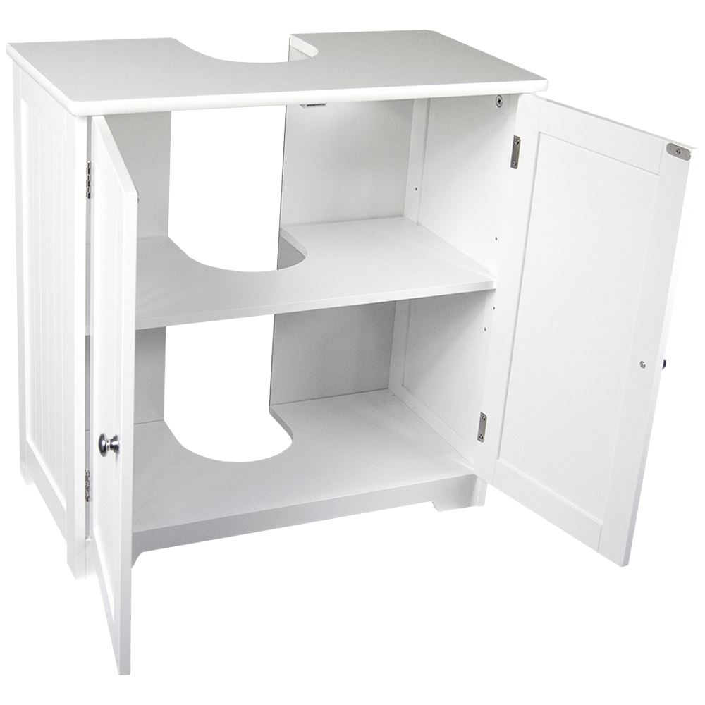 Priano bathroom sink cabinet under basin unit cupboard - Under sink bathroom storage cabinet ...