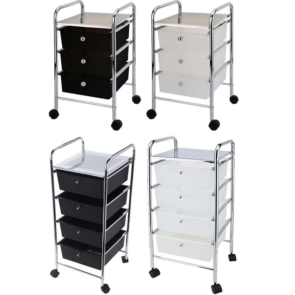 3 4 Drawer Trolley Cart Storage Portable Rack Cabinet ...